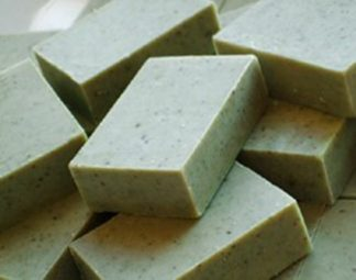Mint and Nettle Scrub Soap